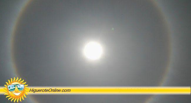 Espectacular Halo, Arco iris o Círculo alrededor del Sol en Higuerote