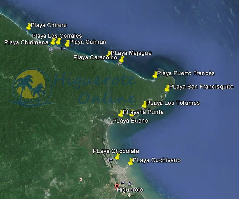 Listado Oficial de las Playas a descubrir en Higuerote